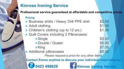 Kinross Ironing Service