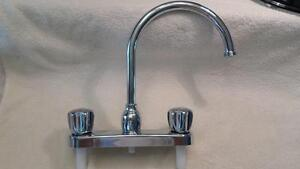 A.S.B. High Arc Laundry Faucet W/Srayer For Garage Utility Sink Wash Basin