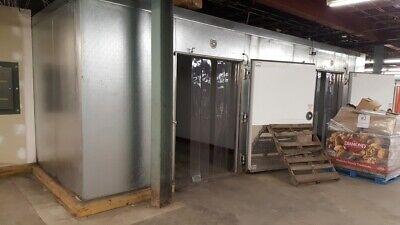 Walk In Freezer 24x22 10.5 H - Pallet Doors - 6 Floor Wall Ceiling W Evaps