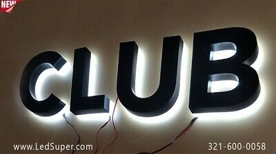 New Led Channel Letters -backlit - Business Sign - 24 - Custom Made