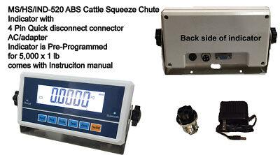 Livestock Hs 520 Ms Ind 520 Scale Indicator For Vet Hog Dog Sheep Goat Pig Scale