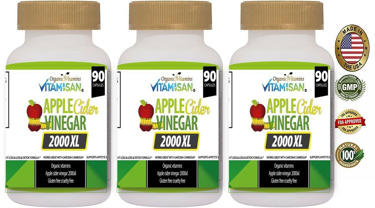 Body Detox & Cleanse w/ Apple Cider Detox Health and Weight Loss Aid, 3-Pack 270