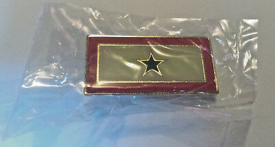 Blue Star Flag Pin Son Family in Military Service Shirt Lapel Hat 1.5