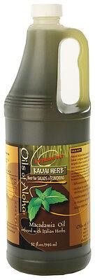 Macadamia Nut Cooking Oil Kauai Herb 32 Oz