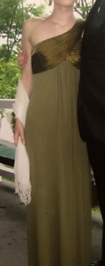 Olive Green Gown - Size 2 - David's Bridal