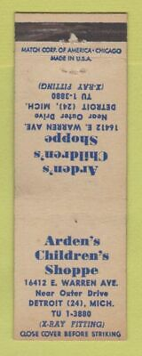 Matchbook Cover - Arden's Children's Shoppe Detroit MI WEAR