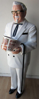 Kentucky Fried Chicken Restaurant Advertising Colonel Sanders Figure ( Video )