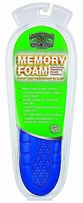 Moneysworth and Best Everyday Memory Foam Shoe Boot Insole, Blue, Cut to