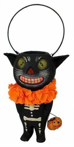 "Bethany Lowe Halloween BLACK CAT BUCKET Head 3.5"" Tall, Black Cat Only"