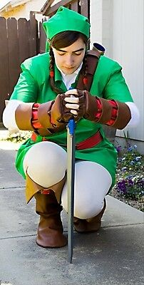 Link Costume Ocarina of Time Zelda Cosplay Deluxe custom made IN AMERICA adult (Link Cosplay Kostüm Ocarina Of Time)