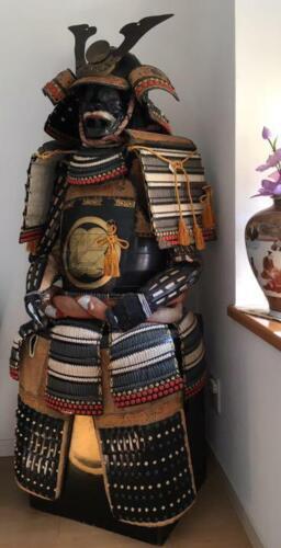 Hawk feather crest Samurai Warrior YOROI Japan Traditional Wearable Armor DHL