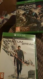 Gears Of War 4 & Quantum Break, sealed & brand new for the xbox one