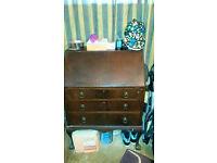 Solid Wood, Bureau, Writing Desk, Upcycle