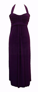 Long Elegant Purple Halter Evening Gown XXL, Plus Size