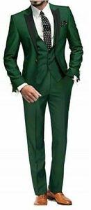 mens 3 pc suit size med brand new  jacket/ vest/pants