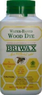 YELLOW - Briwax Water-Based Wood Dye - 8 oz -  RESTORE SAFE VINTAGE ANTIQUE OLD  ()
