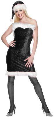 Saucy Miss Humbug Christmas Costume - Velour Dress and Hat - Xmas Party - Humbug Kostüm