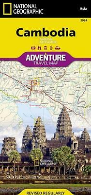 National Geographic Cambodia Adventure Travel Map - Asia