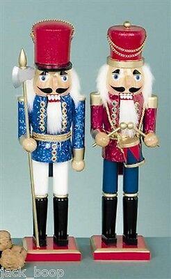 "PAIR CHRISTMAS NUTCRACKER SOLDIER DECORATIONS 15"""