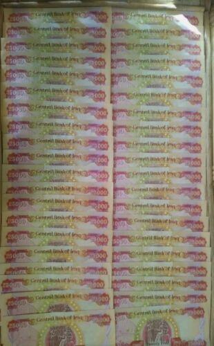 1 MILLION 1,000,000 40 X 25000 IRAQI DINAR AUTHENTIC IQD NOTES - $1,625.00
