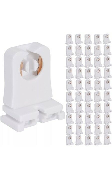 50 Non-shunted UL Listed T8 Lamp Holder Tombstone Sockets LED Fluorescent Tube