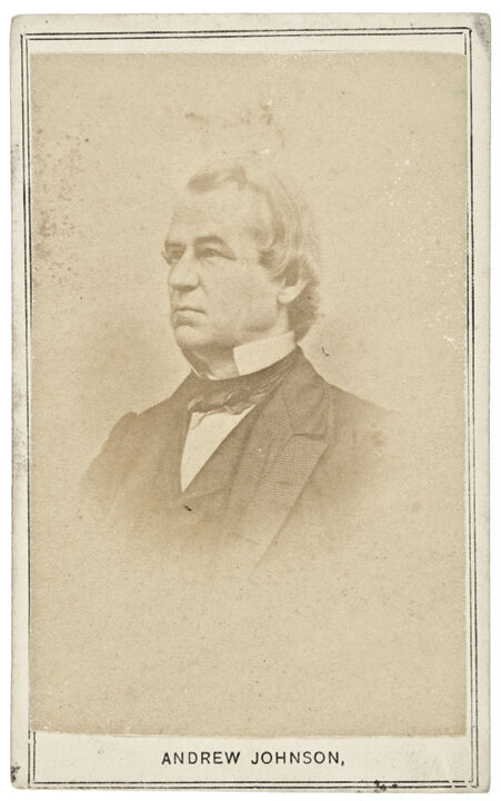 C. 1860s, Civil War Era Carte De Viste Of Andrew Johnson