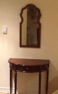 Meuble d'entrée et miroir