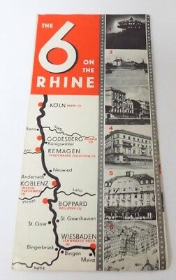 1930's Brochure The 6 on the Rhine  Grand Hotels Cooperative