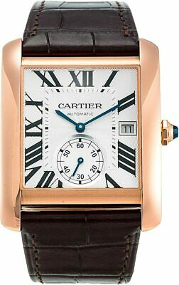 Cartier Tank MC 18k Rose Gold Automatic Large Mens Watch Box/Book W5330001