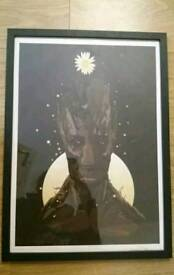 Avengers Groot A2 framed print Guardians of the Galaxy Marvel