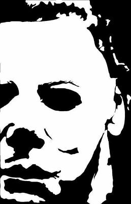 Michael Myers Mask 8 inch tall Vinyl Decal Halloween Horror Slasher Jason](Michael Myers Halloween 8 Mask)