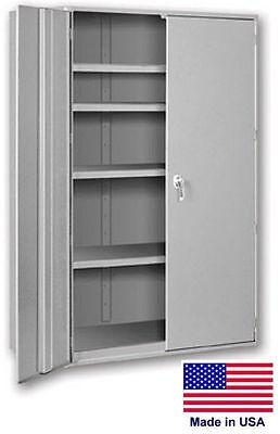 Storage Cabinet Commercialindl - 12 Gauge Steel - 3 Shelf - Gray - 60x48x19 P