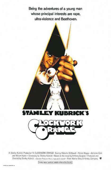 A Clockwork Orange (1971) movie poster reproduction - single-sided - rolled