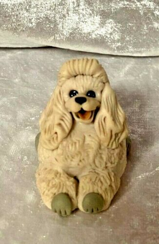 White Poodle Dog Resin Christmas Ornament Made in Poland Decoration        s