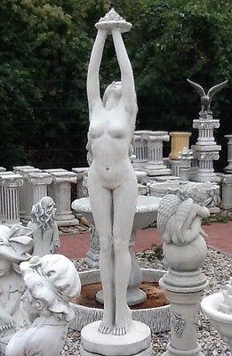 """Gartenfigur """"Frau mit Fontaine"""" 167 cm,Brunnenfigur,Menschen,Steinguss,BAD"""