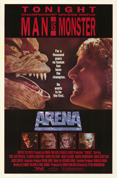 Arena (1988) original movie poster - single-sided - rolled