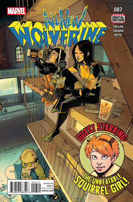 Marvel All-New Wolverine Comic Book #7 2016 X-23 Gabby Squirrel Girl NM