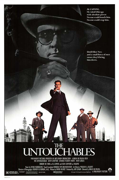 THE UNTOUCHABLES (1987) ORIGINAL MOVIE POSTER  -  ROLLED