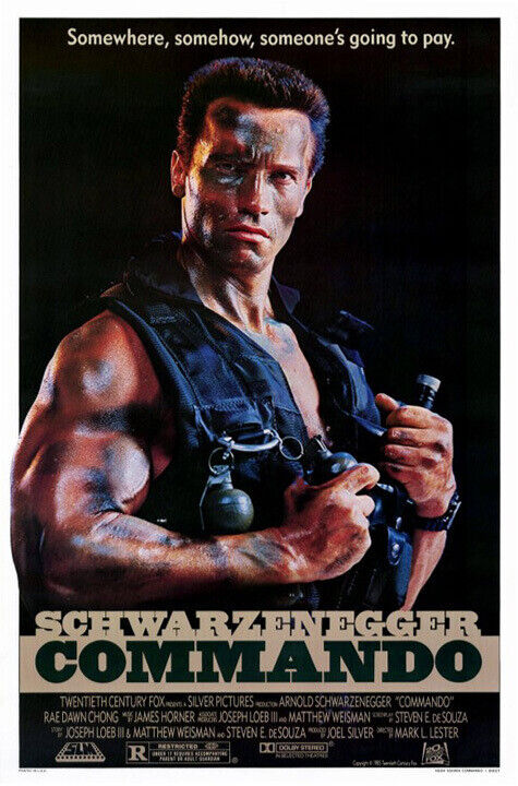 Commando (1985) original movie poster - single-sided - near mint -unused -rolled