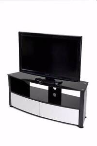 TV Stand Cabinet Unit Furniture - High Gloss Black, White Drawers Lansvale Liverpool Area Preview