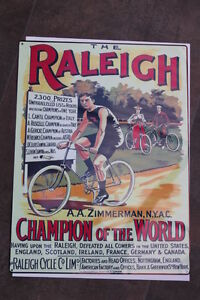 RALEIGH-CYCLE-LARGE-METAL-SIGN-12X16-in