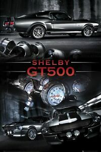 Ford-Shelby-Mustang-GT500-Large-Muscle-Car-Poster-New