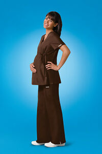 MEDICSTOX CHEROKEE MATERNITY TOP SCRUBS MEDICAL UNIFORMS CLOTHIN