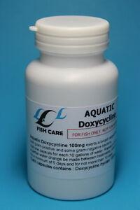 Aquatic doxycycline 100mg 100 count capsule antibiotic for Fish antibiotics doxycycline