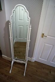 Ornate Vintage Standing Mirror - Shabby Chic, Old, Decorative