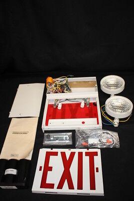 New Nos Dual Lite Exquisite Rg Series Remote Grade Exit Sign Mint