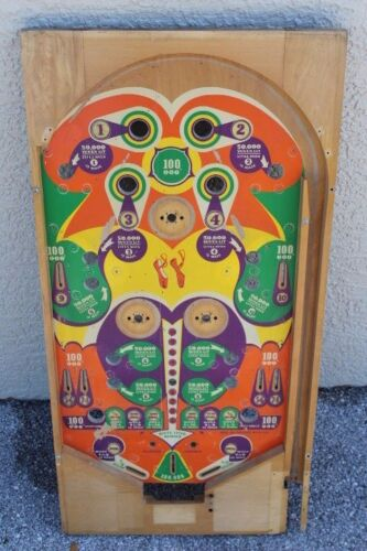 1950 United RED SHOES PINBALL MACHINE PLAYFIELD - RARE BUT DAMAGED