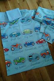 Two Next Traffic Jam quilt covers with matching pillowcases