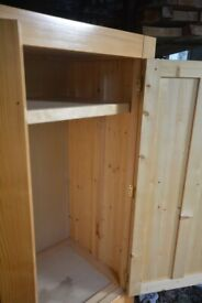 Pine wardrobe good solid condition couple of marks shown in the pictures