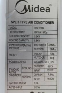 Reverse cycle split system air con Rutherford Maitland Area Preview